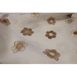 Linen with flower embroidery