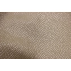 Faux leather muster beige