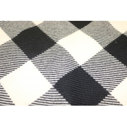 Large checkered wool