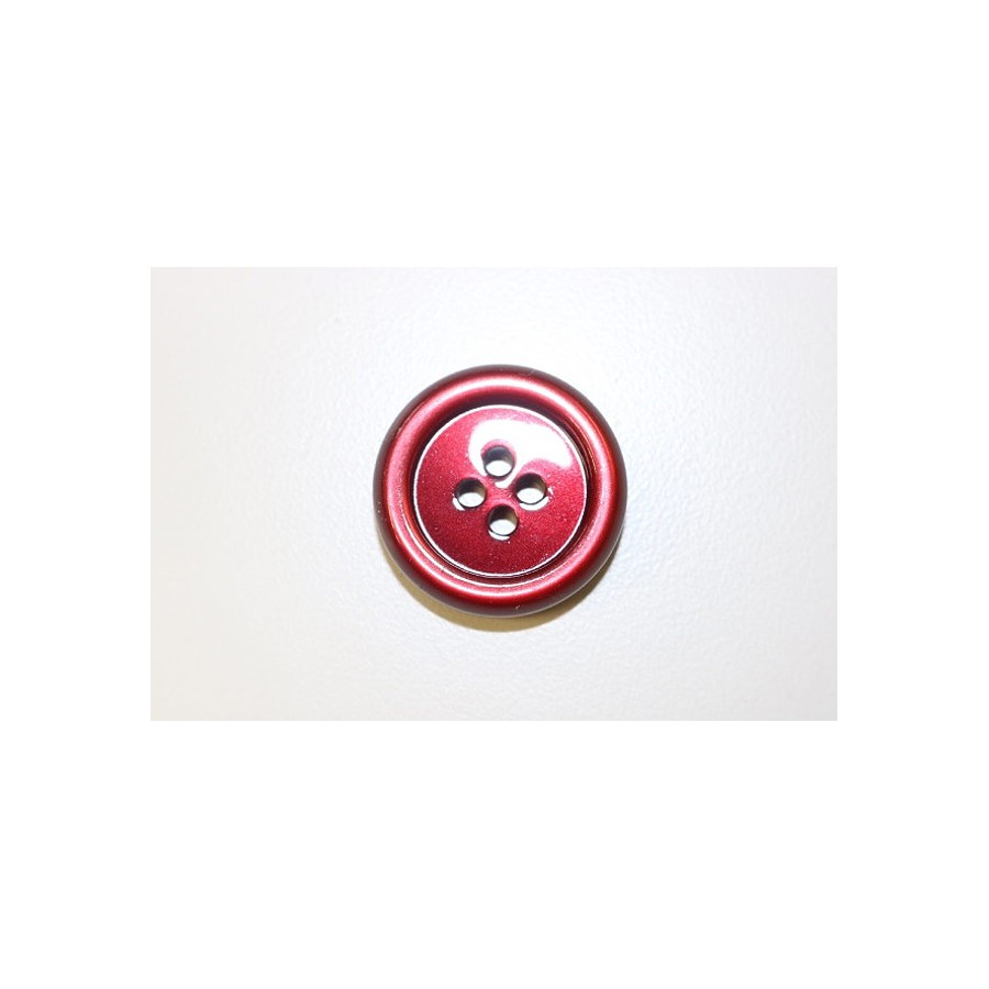 Red acrylic button